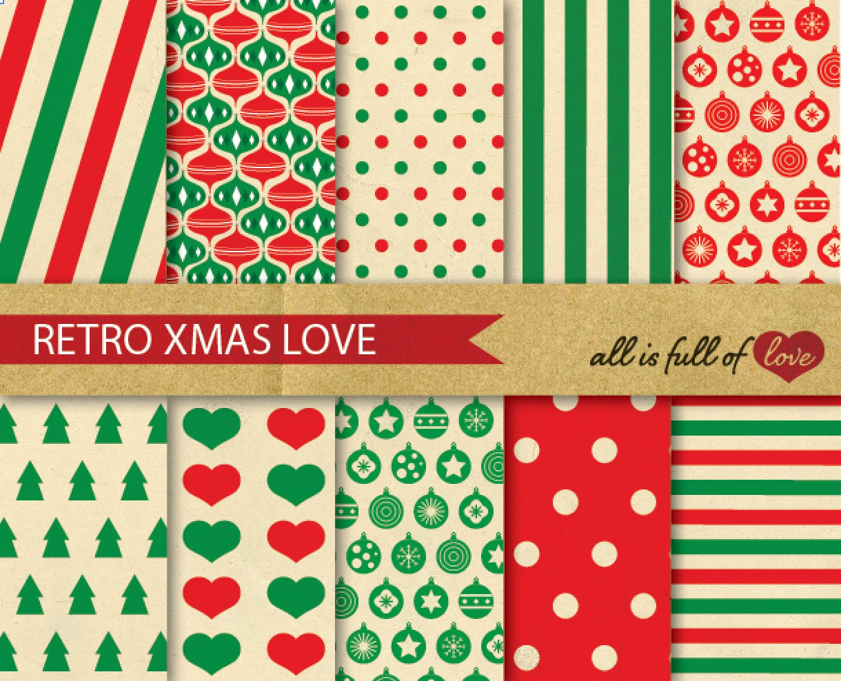 Retro christmas background