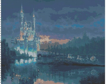 Cinderella Castle Cross Stitch Pattern PDF (Pattern Only)