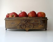 Oval Fruit Bowl in Variegated Brown