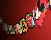 Mickey Mouse  primary colors Personalized Birthday Banner