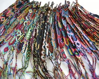 Wholesale Lot of Small Friendship Bracelets (50 bracelets)