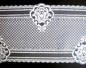 REMNANT- Exquisite Victorian Wide Lace, White, 6 1/4 inch wide, For Bridal, Home Decor, Apparel, Accessories, Victorian & Romantic Crafts