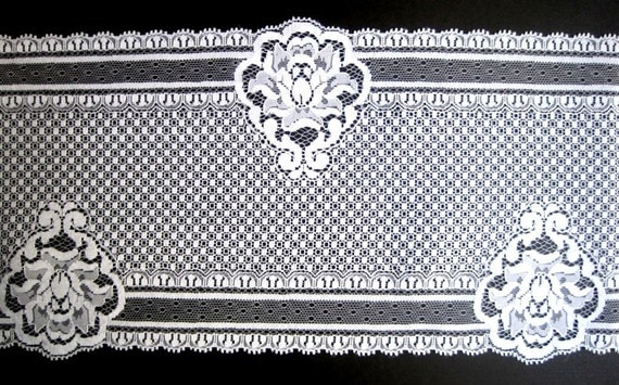 Exquisite Victorian Wide Lace, White, 6 1/4 inch wide, 1 Yard For Bridal, Home Decor, Apparel, Accessories, Victorian & Romantic Crafts