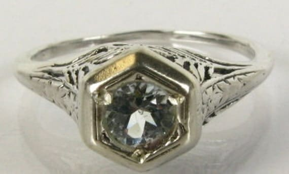 Victorian Aquamarine and Silver Ring