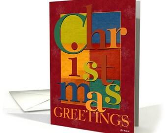 Christmas Scramble - A colorful, fun Christmas Card for Anybody