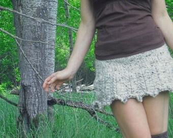 Pixie Skirt, Ruffle Mini Skirt, Fairy Skirt, Knit Skirt, Hand Knitted Skirt, Mini Skirt, Festival Skirt, Festival Clothing