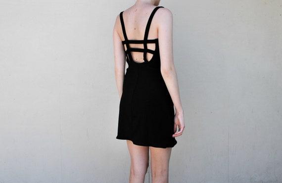 MAE.VALENTE Vintage 90s Black Caged Dress