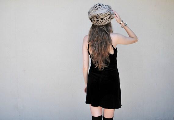 reserved MAE.VALENTE Vintage Faux Fur Leopard Hat