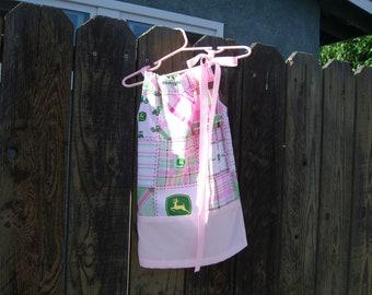 Sale john Deere pillowcase dress /farm dress /birthday dress /baby girl dress