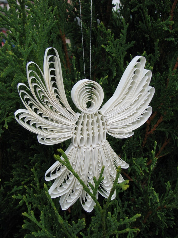 paper quilled christmas angel
