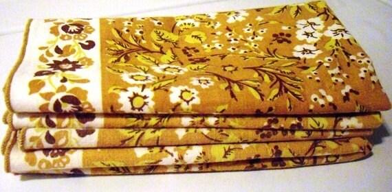 Vintage Linen Napkins for 5, dish towels