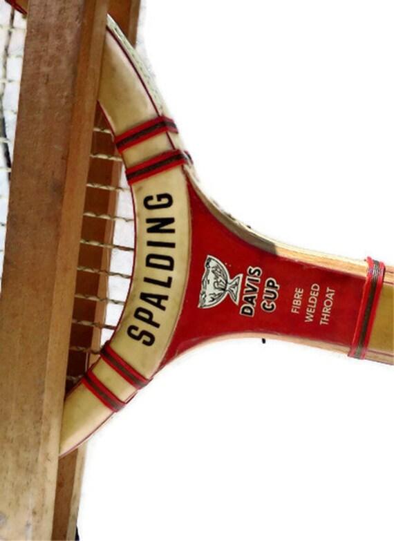 Vintage Tennis Racquet Racket Spalding Davis Cup