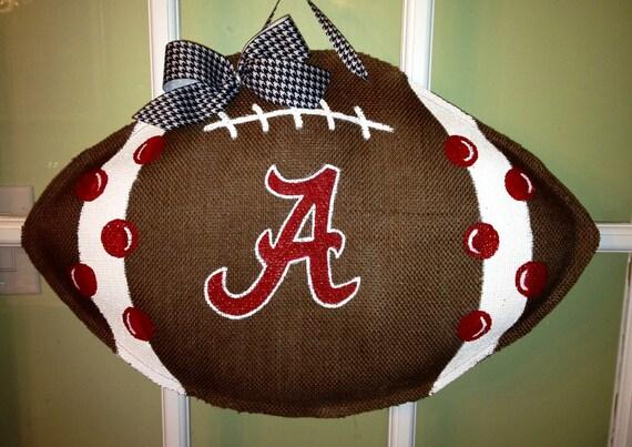 Items Similar To Alabama Football Burlap Door Hanger On Etsy