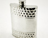 Vintage English Gibson Sheffield Pewter Hip Flask