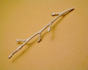 budded twig branch cast twig sterling silver finding UT027-1