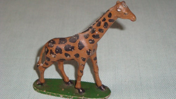 Vintage Metal Giraffe Toy or Collectible