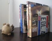 OHIO  LICENSE PLATE Bookends- Perfect for an Office - Mancave - Den.....many states available