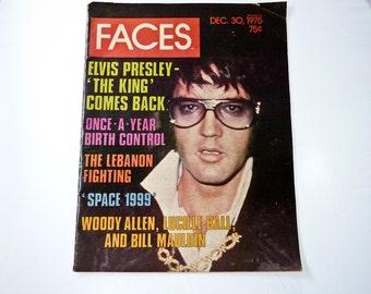 Vintage Faces Magazine - Elvis Presley - The King Comes Back - December 30th 1975