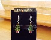 REDUCED CHRISTMAS SALE , Swarvorski crystal  Christimas tree earrings