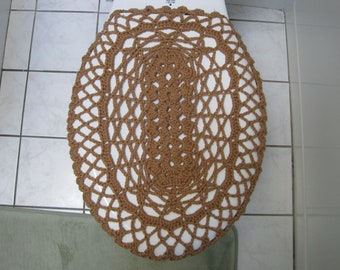Crochet Toilet Seat Cover or Crochet Toilet Tank Lid Cover - Topaz (TSC3A or TTL3A)