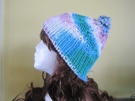 Knit Cotton Hat - mixed (H9)