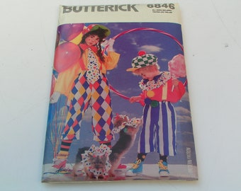 Vintage Butterick Pattern  6846 Costume Boy Girl Clown