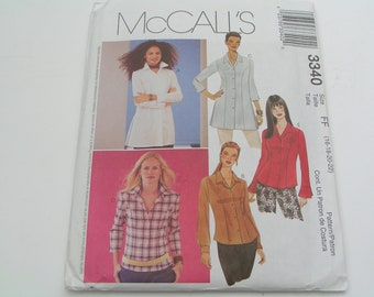 McCalls Pattern 3340 Miss Petite Shirt in two length
