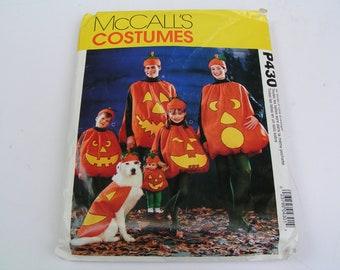McCalls Costume Pattern P430 Jack O'Lantern 18 Doll Dog