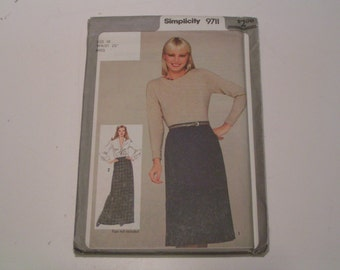 Vintage Simplicity Pattern 9711 Miss Skirt in two lengths