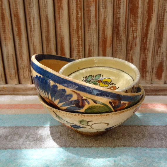 Vintage Global Bowl Trio From Mexico & Japan