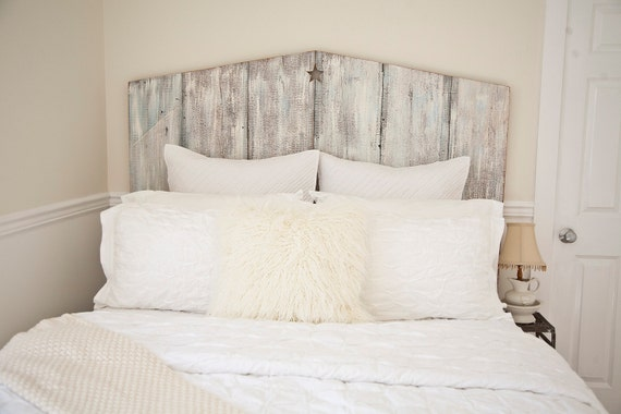 Full Tricia Reclaimed wood beach Cottage chic Headboard