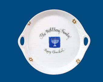 Personalized Hand Painted  Chanukah Dish