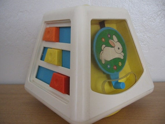 Vintage 1970s Fisher Price Toy Multi Activity Plastic Baby