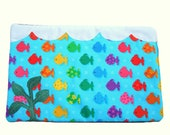 Cat mat pad - Fish tank cat mat - blue cat bed - cat pad ocean