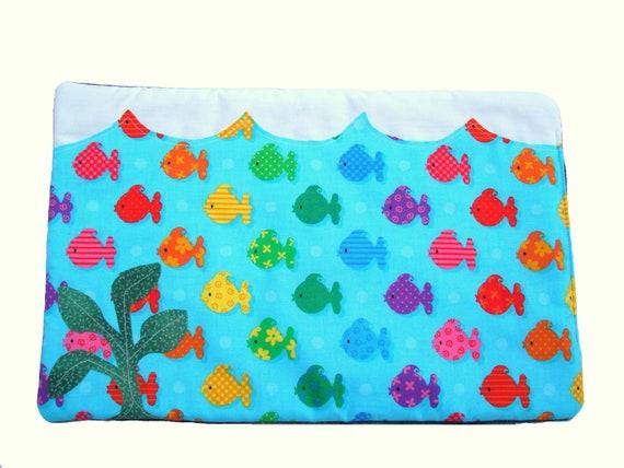 Cat mat pad - Fish tank cat mat - blue cat bed - cat pad ocean