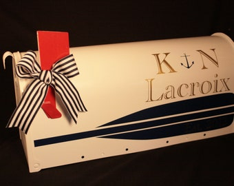 Wedding Mailbox - Nautical Themed - Card Box - Standard USPS size