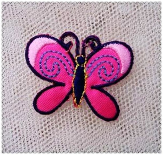 Embroidery Applique  -The butterfly embroidery cloth paste made clothes(1pcs)
