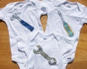 ToolBox Baby Bodysuit Set (3): Wrench, Hammer, and Screwdriver