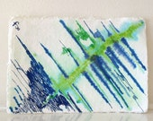 Original Small painting Blue, Green, like the Sea