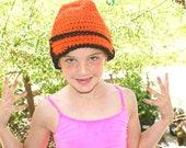 Womens Trendy Hat, Crochet Orange Cloche Hat, Womens Flapper Hat, Sock Hat, Fall Fashion Hat, Crochet Womens Hat, Crocheted Cap, Hip H