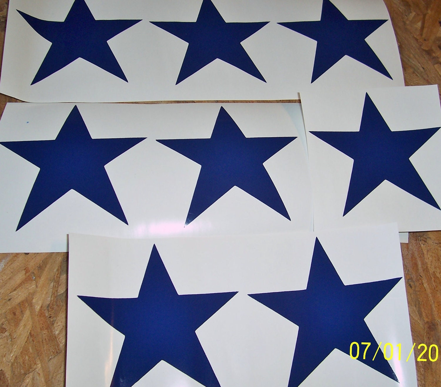 Blue Star Wall Decor : Navy blue vinyl star decals wall decal