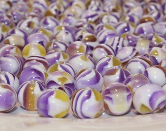 20pcs Loose Beads- Purple Yellow White-Basketball wives earrings-12mm