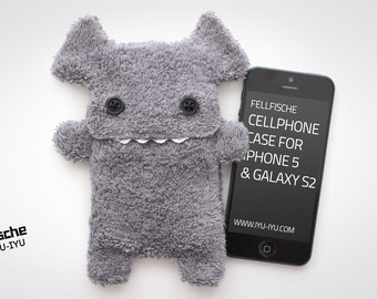 Fluffy Cellphone Case for iPhone 5 & SE - Fellfische - Anthracite