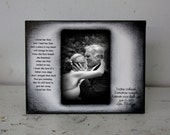 Black and White Father Daughter Dance Rustic Distressed Gift Personalized Father of the Bride Wedding Picture Frame 4x6 Keepsake