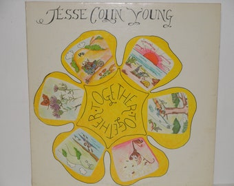 """Jesse Colin Young - Together - """"Good Times"""" - """"6 Days on the Road"""" - Raccoon Warner Brothers Records 1972 - Vintage Vinyl LP Record Album"""