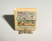 Miniature PAINTING BOOK by Walter Crane - Routledge - One Inch 1/12 Scale Dollhouse Victorian Style Coloring Book Childrens Nurser Accessory