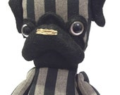 miniature Mon Cher Pug (black, brown, stripe) pug doll
