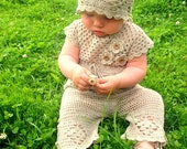 Crochet Linen Set for Baby Girl and Baby Boy  Perfect For Baby Shower Gift