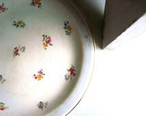 Crooksville China, Antique Serving Platter, Cake Platter, Pink Roses, 1930s, Depression Era, Vintage Serving, Vintage Platter, Cake Plate