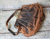 Reserved for Tabitha Vintage Hand Purse Genuine Boarded Goat Cottage Chic Decor Pouch Clutch